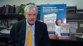 "Steve Forbes Signs his Book ""Reviving America"" at the Book Revue"