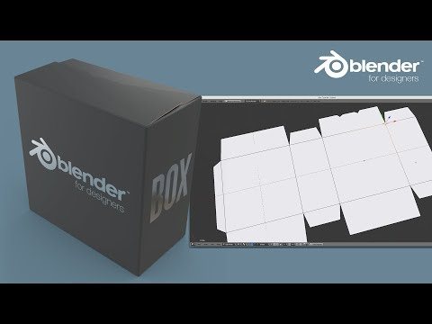 Blender for Packaging Design - Creating a Box with Flaps & Dielines