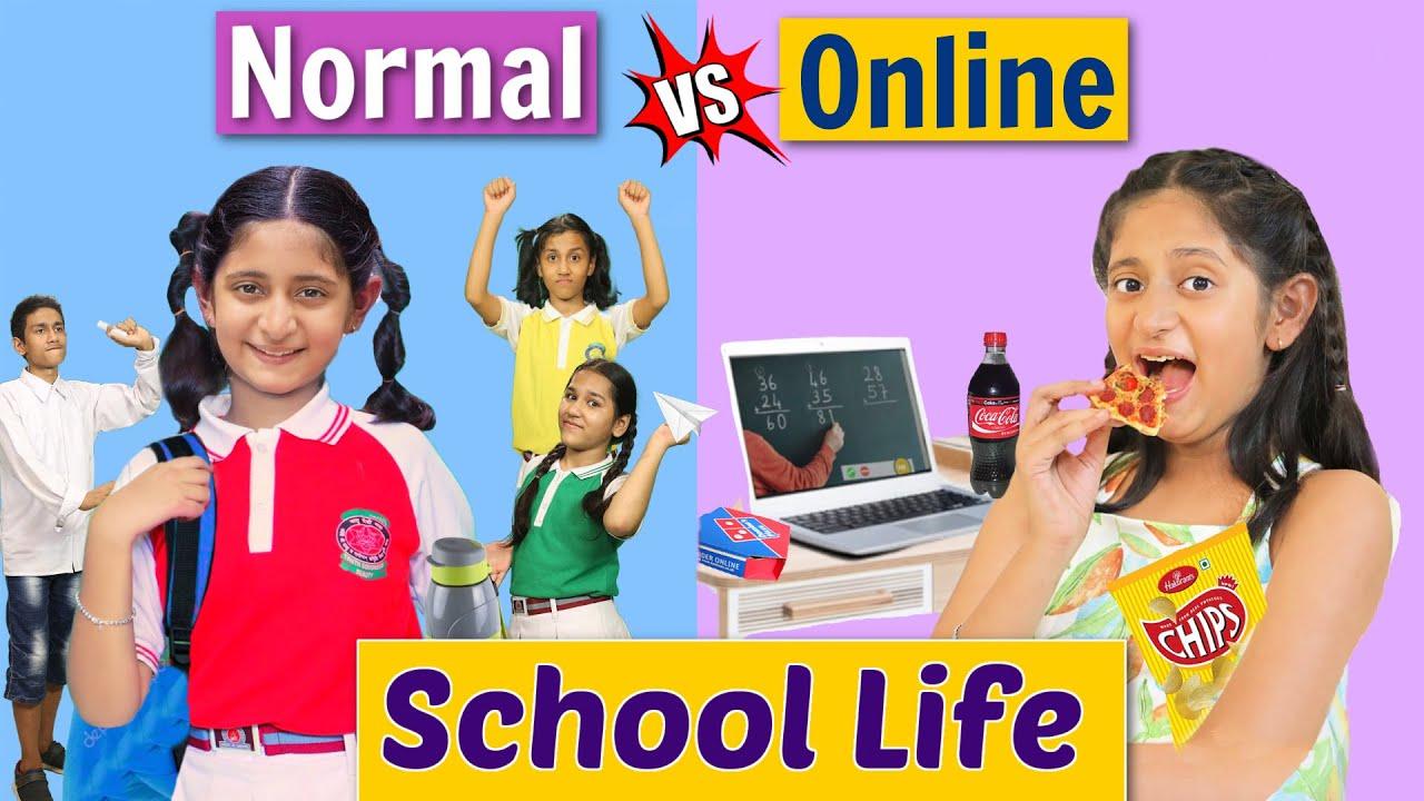 SCHOOL LIFE - Back To School vs Online | MyMissAnand