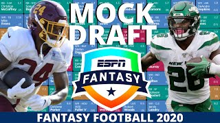 2020 Fantasy Football Mock Draft (PPR) - 10 Team- Pick 2