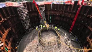 Mersey Gateway Bridge - Concrete pour for the base of the south pylon