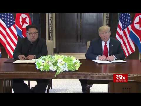 Joint press conference by Donald Trump and Kim Jong-un