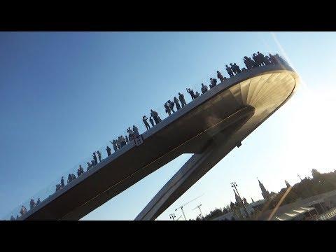 Sarjadje Park Schwebende Brücke | Moskau, wie es ist