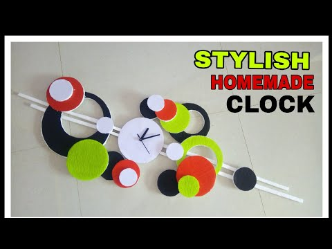 How to make clock || Diy Stylish Clock || Foam sheet homemade clock