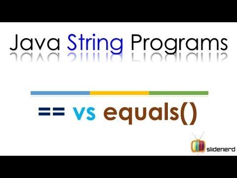 Java String Comparison == vs .equals() |