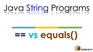 Java String Comparison == vs .equals(): Java Tutorial For Beginners [HD 1080p]