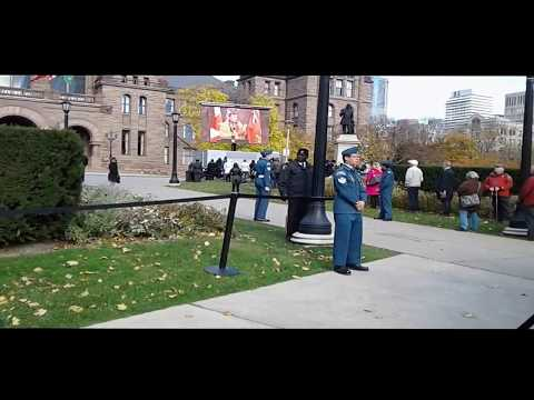 "Remembrance Day--Toronto Queen""s Park 2016"