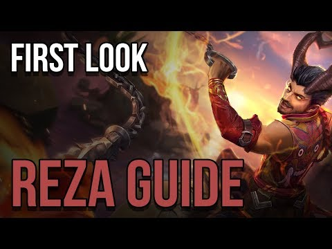 FIRST LOOK REZA GUIDE | VAINGLORY | GETTING TO KNOW THE HERO ON THE FOLD