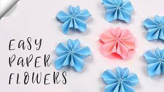 Easy Paper Flowers   Flower Making   DIY paper crafts
