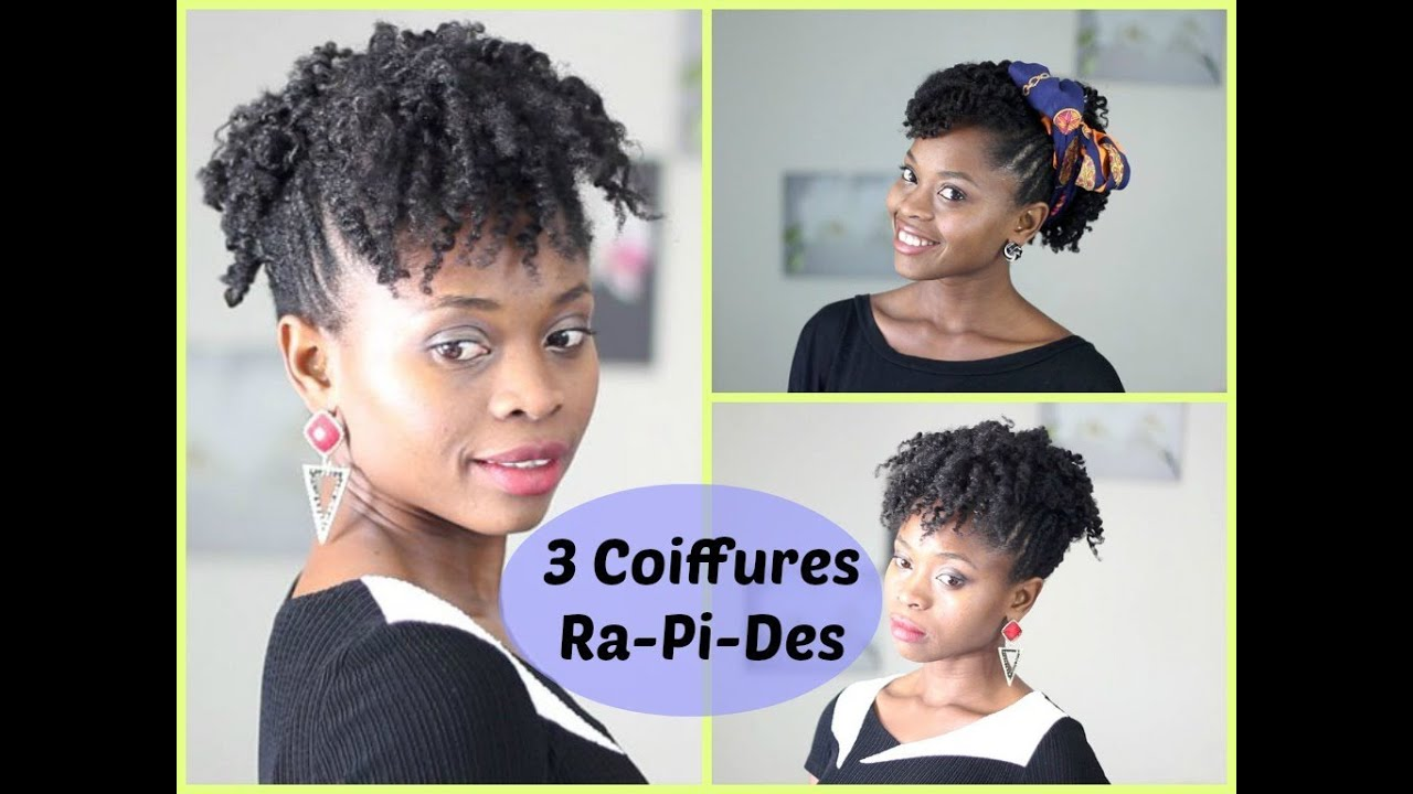Coiffure Cheveux Court Crepu Relooking Frohawk 3 Coiffures Rapides Youtube