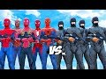 RoboCop Army VS Spiderman Suits - Spiderman, Iron Spider, Spider-Man 2002, The Amazing Spider-Man