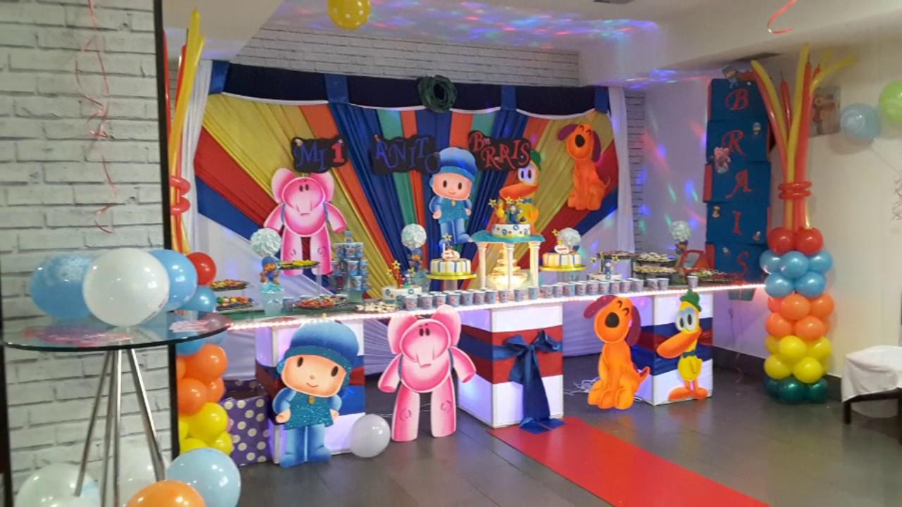 Fiesta infantil tematica de pocoyo youtube - Fiesta de halloween infantil ...
