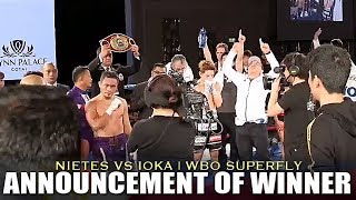NIETES DEFEATS IOKA FOR THE WBO SUPERFLY TITLE | NOW 4 DIVISION WORLD CHAMPION