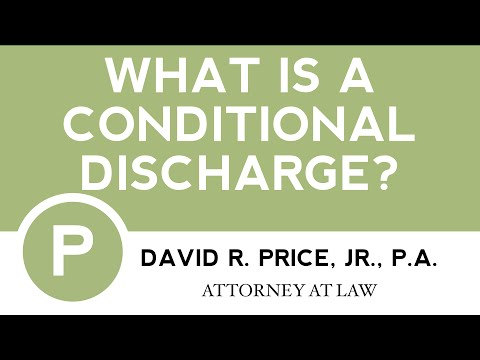 What is a Conditional Discharge? | Criminal Defense Lawyer Greenville, SC