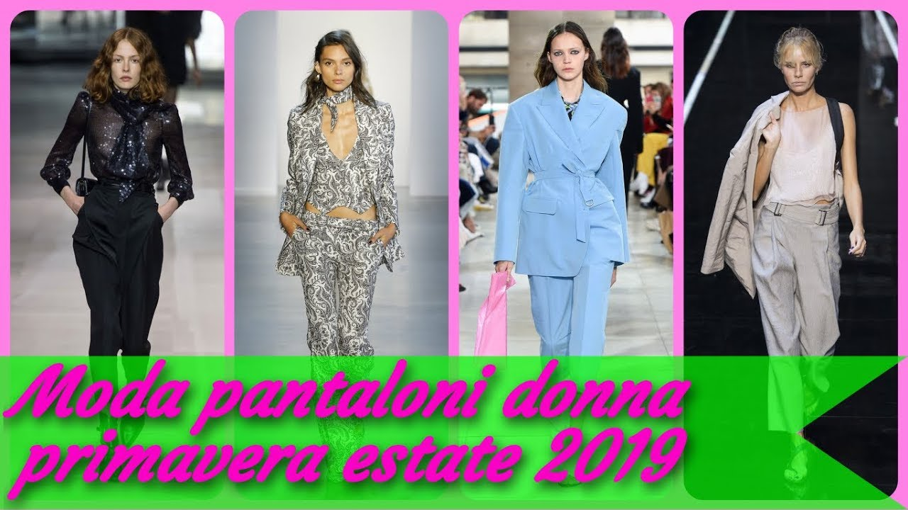 5fcce1e445be Moda 👖 pantaloni donna primavera estate 2019 - YouTube