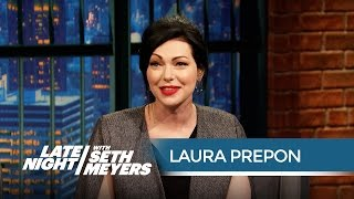Laura Prepon Talks Orange Is the New Black Season 3 - Late Night with Seth Meyers