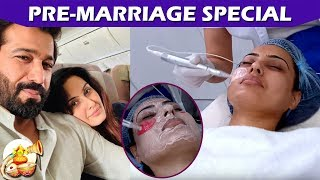 Kamya Punjabi And Shalabh Dang Before Marriage Bridal Treatment For Skin   Telly Reporter