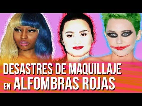 Desastres de Maquillaje en Alfombras Rojas  (Moda Sin Filtro)
