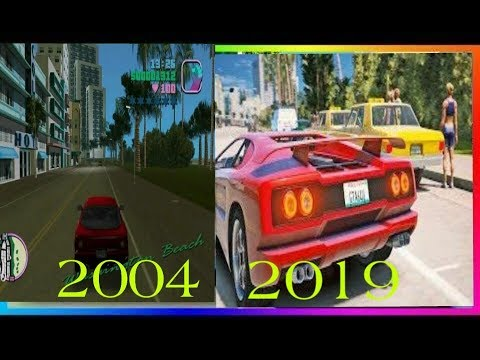 Gta Vice City Graphic Evolution From 2004 To 2019 |Comparison|