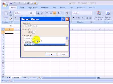 How to Record and Test Excel Macro