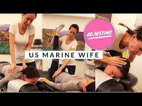 US Marine Wife Getting Adjusted by Chiropractor for the First Time by Dr. Kamilla Holst