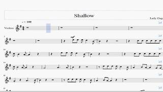 Lady Gaga Bradley Cooper - Shallow - Violin Sheet Music