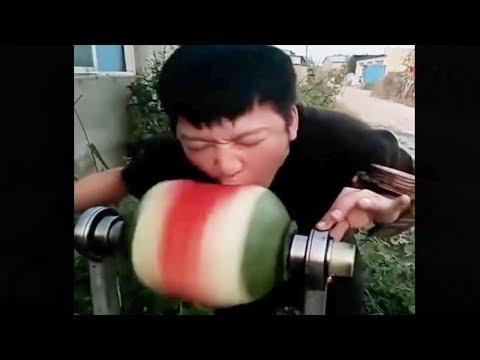 Ich kann eine Wassermelone in 1 Sekunde essen!