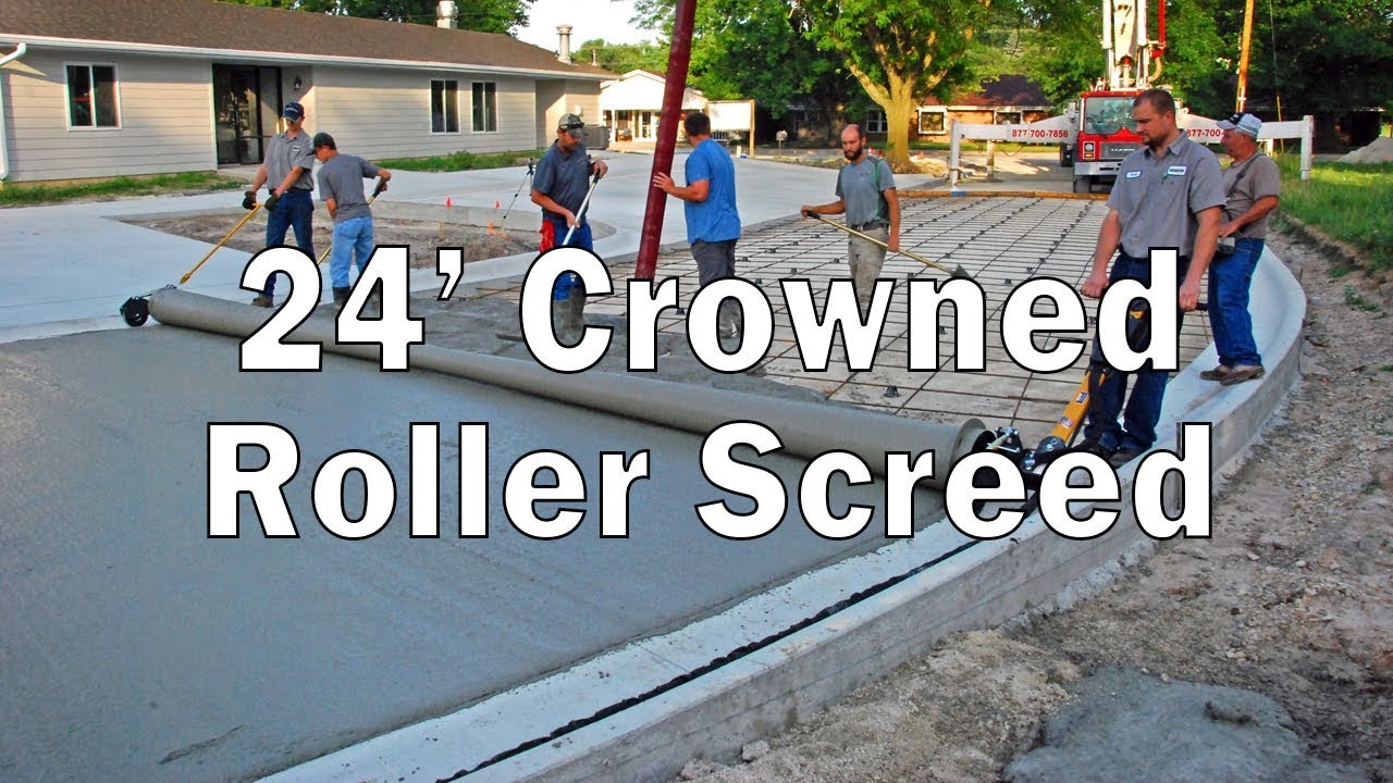 24ft Crowned Roller Screed