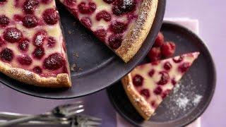 Простой малиновый пирог. Быстрый пирог без дрожжей.