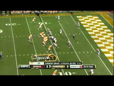Tyler Bray vs Georgia 2011