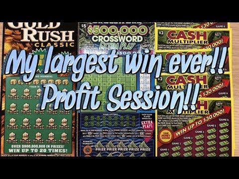 My Largest Ever Win! Nice Profit Session! $40 Scratch Battle Vs Florida Scratcher 777