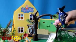 Свинка Пеппа баба яга в домике на дереве Мультик для детей