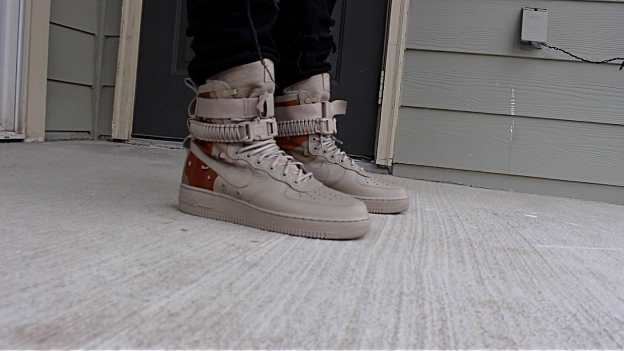 pretty nice 0a161 ccf45 Nike Special Force Camo ON FOOT! SF AF 1