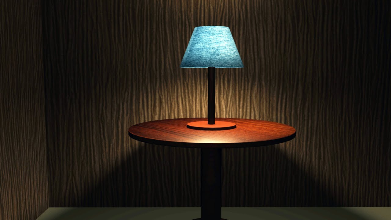 Maya 2016 tutorial : How to setup table lamp lighting ...