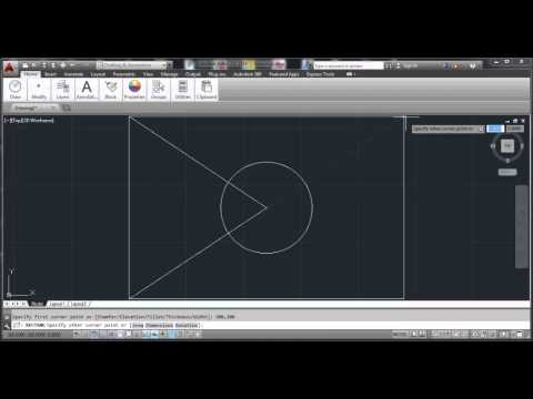 autocad 2014 basic commands and tools tutorial