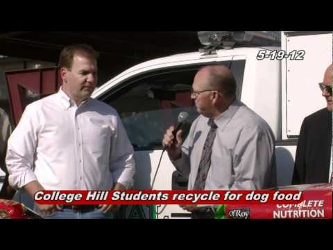 College Hill Middle School Students recycle to raise money for 3,600 pounds of dog food