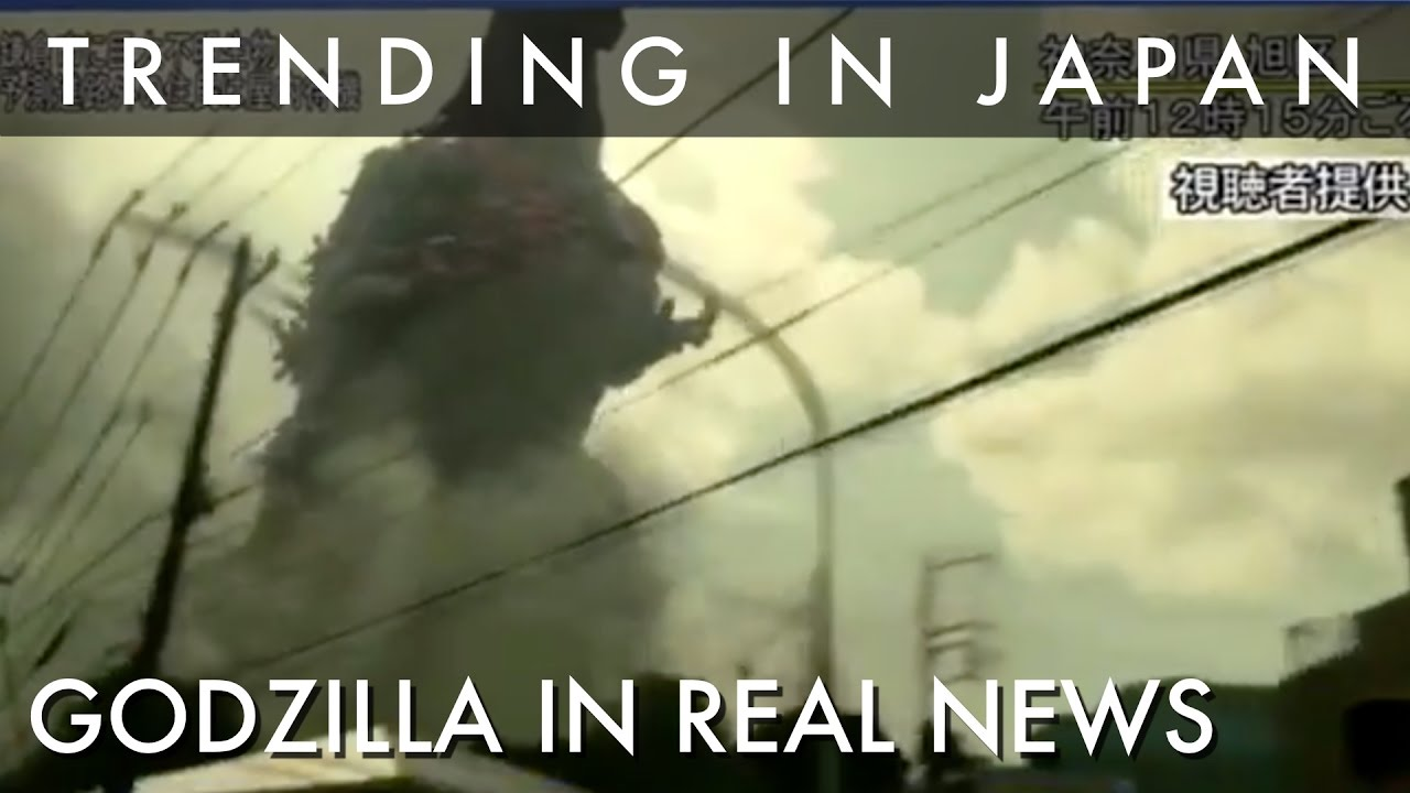 why are godzilla sightings on real prime time news