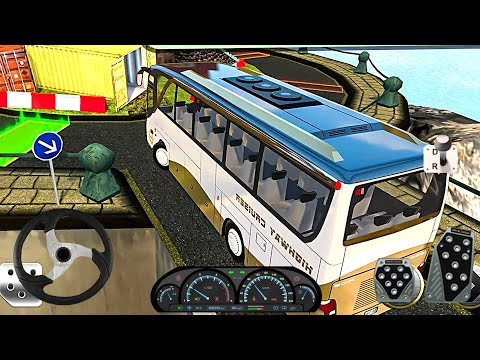 Ferry Port Trucker Parking Simulator - Bus SUV Truck Transport Port - Android Gameplay