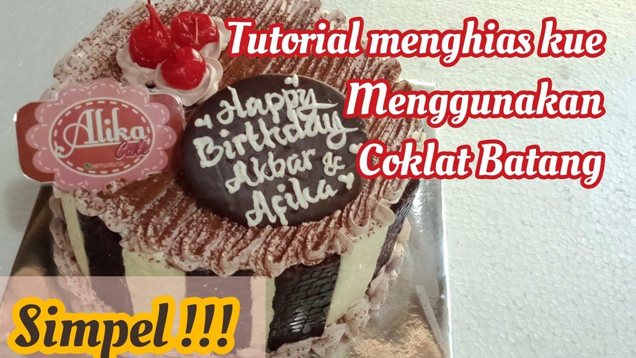 Cara Menghias Kue Tart Menggunakan Coklat Batang Youtube