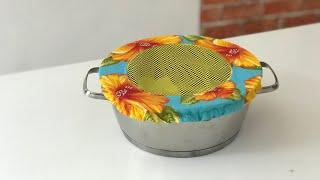 Tampa ecológica de tecido para panela por Arte de Paninho