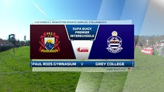 Premier Interschools Rugby | Paul Roos vs Grey College | Highlights