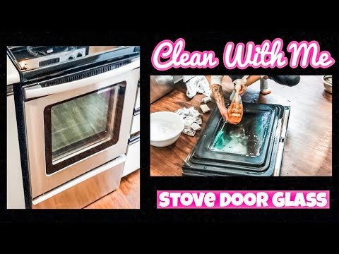 How-To Clean The Inside Of Oven Glass Doors | DIY | I ALMOST BROKE IT!!!! |