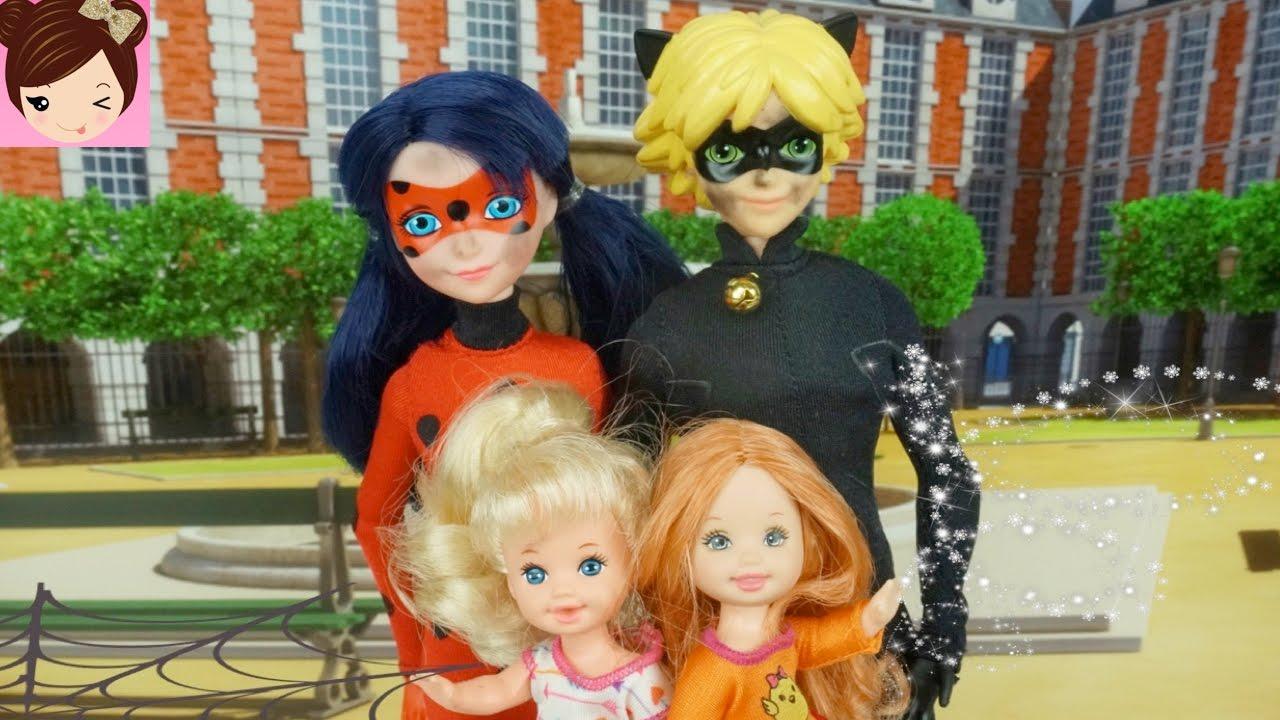 Ladybug & Cat Noir Babysitting FAIL - Elsa & Annas Kids are gone - Doll  Episode