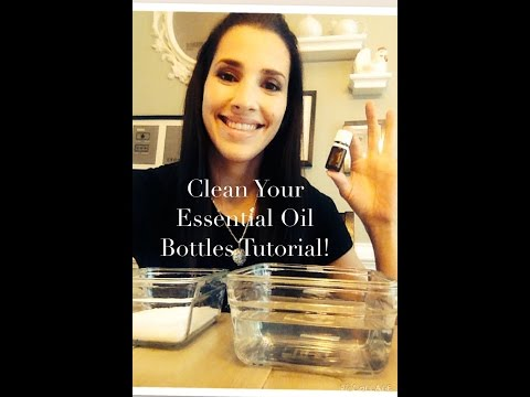 How to Clean Essential Oil Bottles! Don't Throw them out!