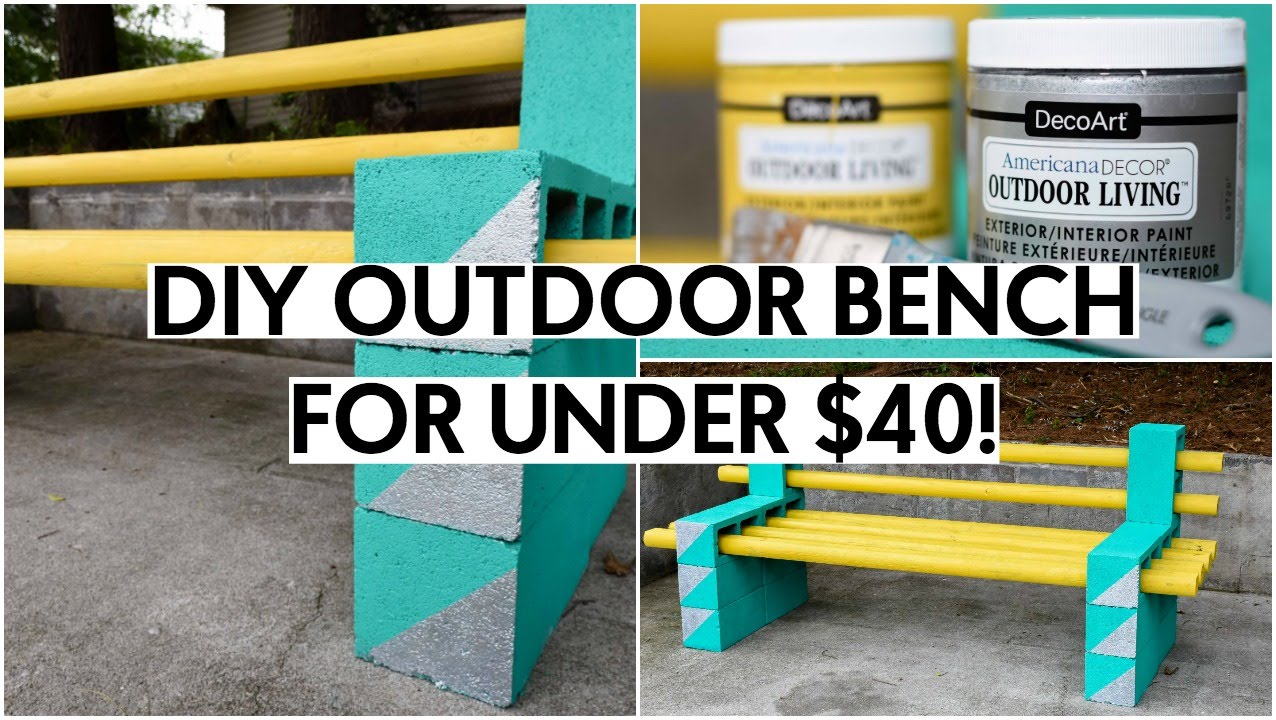 DIY OUTDOOR BENCH FOR UNDER $40!   YouTube