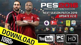PES 2016 | Next Season Patch 2019 Update v2.0 | Download