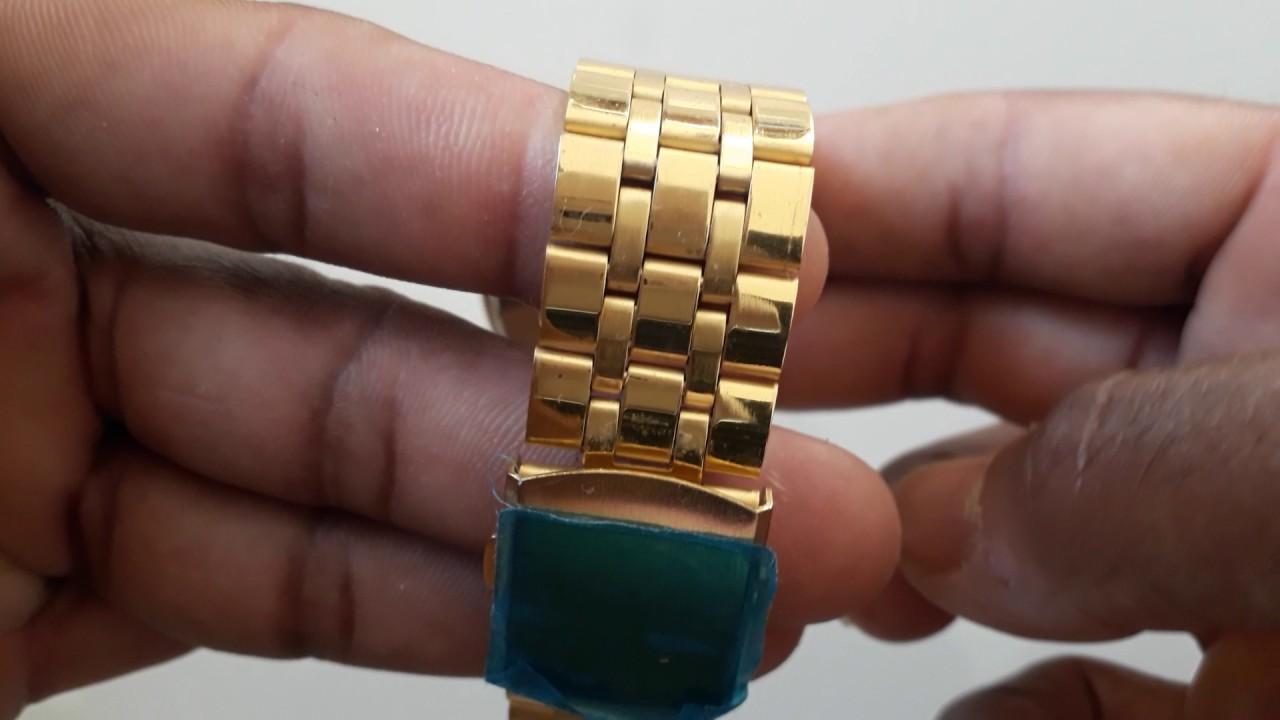 175abc4cda3 Relógio Rolex dourado fundo dourado com prata