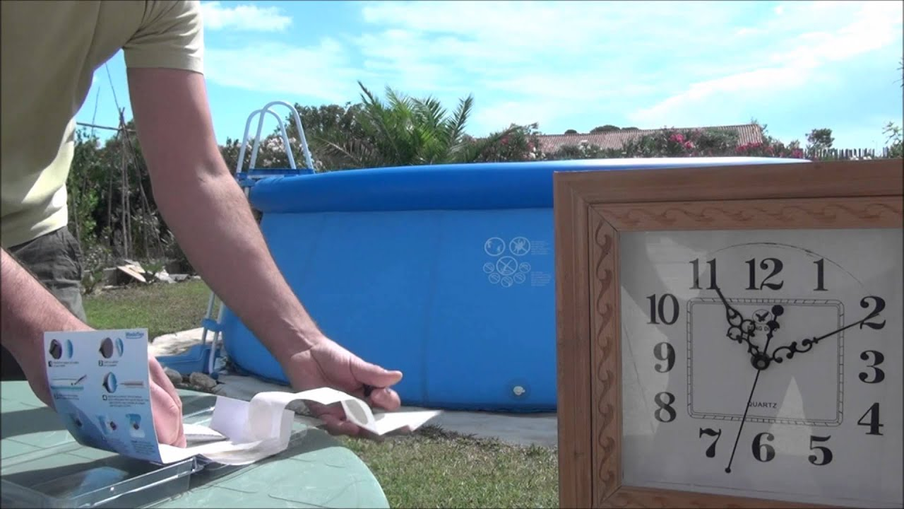 Madatex demonstration du kit de reparation piscine youtube - Colle pour reparation liner piscine ...