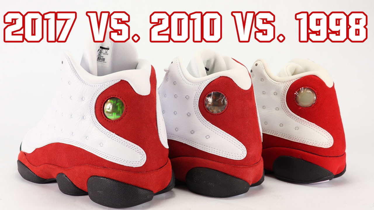 big sale def64 42cf1 2017 vs 2010 vs 1998 Air Jordan 13 Chicago Comparison