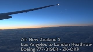 ANZ2 - Los Angeles to London - Boeing 777-300ER (Full Flight & ATC)